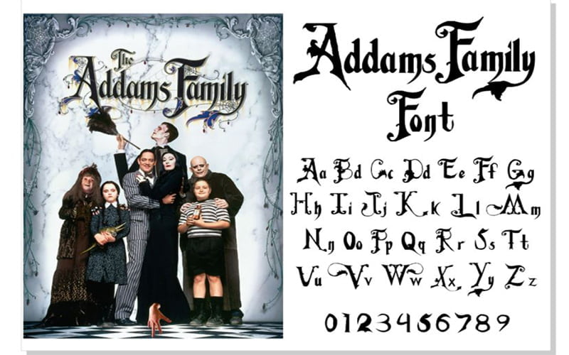 Addams Family Font Free Download