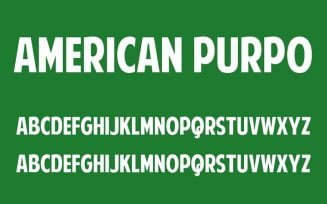 American Purpose Font Family Free Download