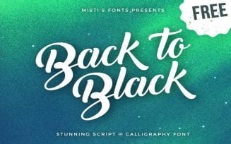Back to Black Font Family Free Download