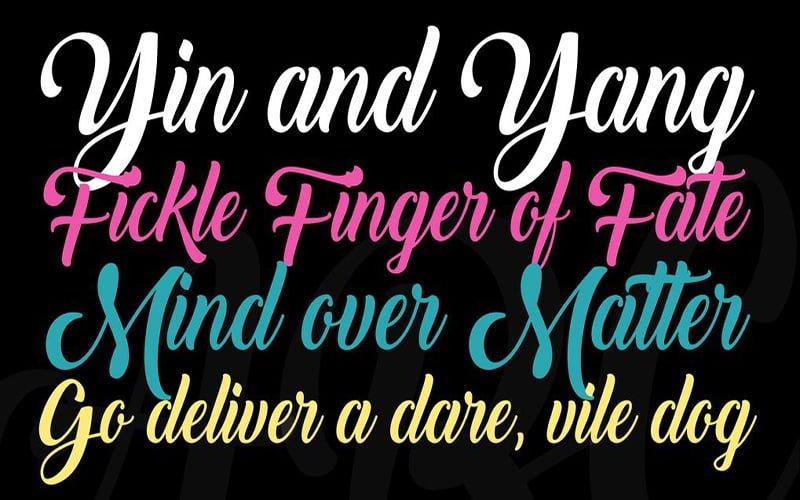 Back to Black Font Free Download