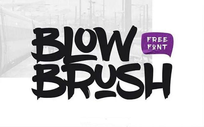 Blowbrush Font Family Free Download