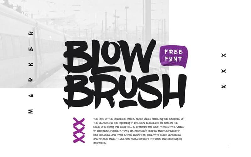 Blowbrush Font Free Download