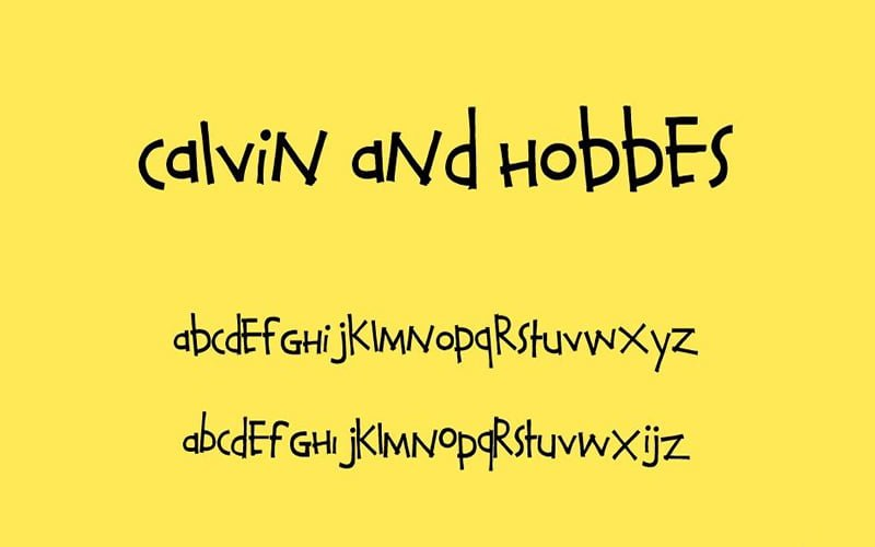 Calvin and Hobbes Font Free Download