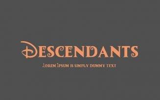 Descendants Font Family Free Download