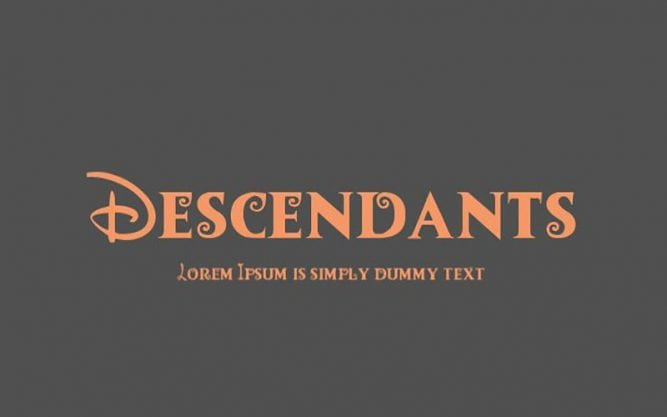Descendants Font Family Free Download