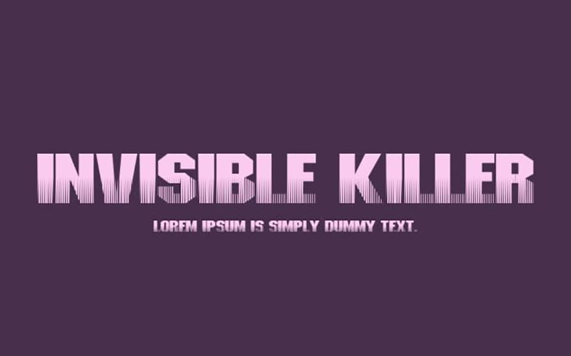 Invisible Killer Font Free Download