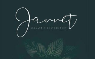 Jannet Signature Font Family Free Download