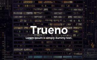 Trueno Sans Font Family Free Download