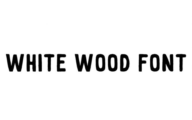 White Wood Font Family Free Download