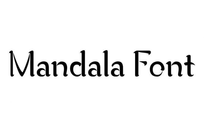 Mandala Font Family Free Download