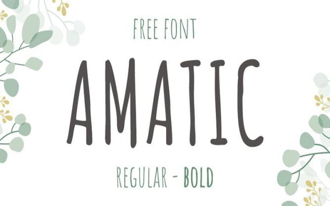 Amatic SC Font Family Free Download