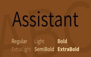 Assistant Font Family Free Download