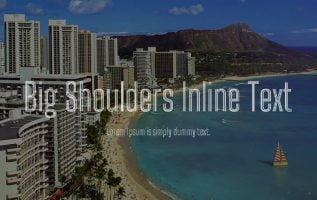 Big Shoulders Inline Display Font Family Free Download