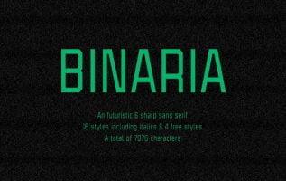 Binaria Font Family Free Download