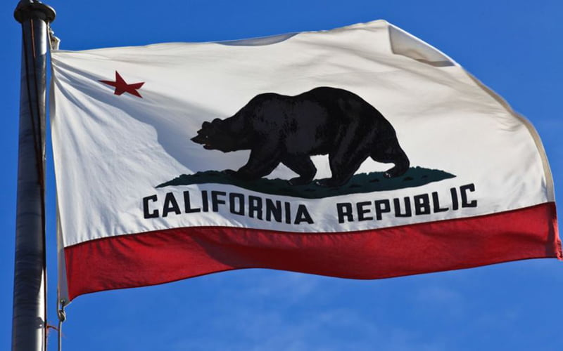 California Flag Font Free Download