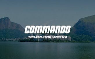 Commando Font Family Free Download