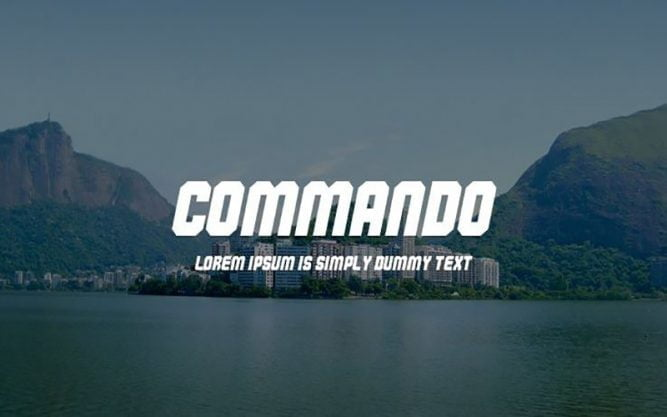 Commando Font Family Free Download