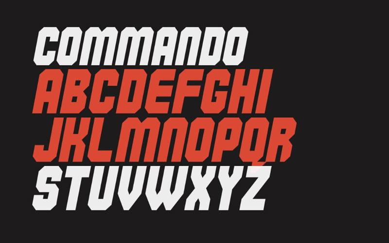 Commando Font Free Download