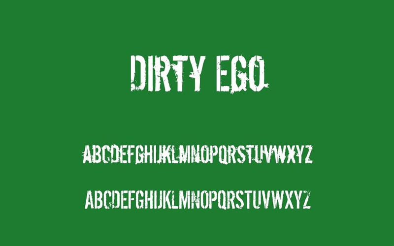 Dirty Ego Font Family Download