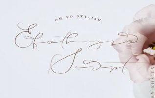 Efothyro Script Font Family Free Download