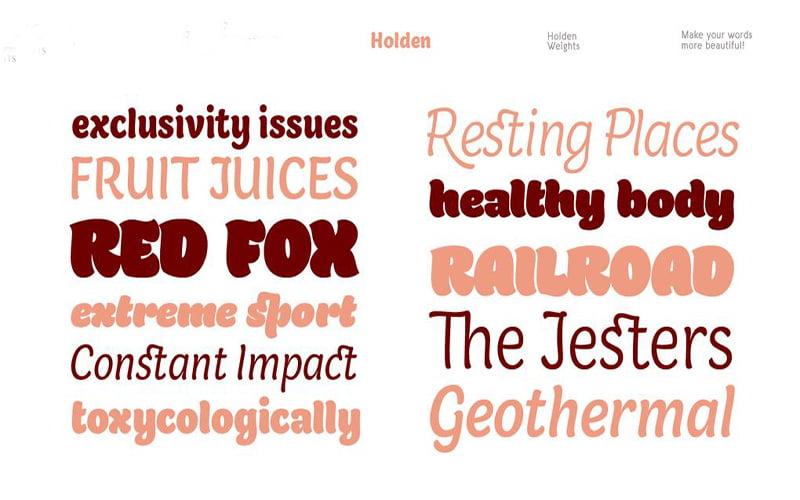 Holden Font Free Download