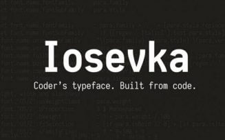 Iosevka Font Family Free Download