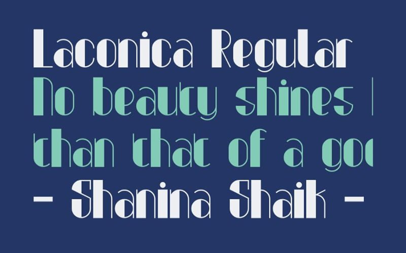 Laconica Font Free Download