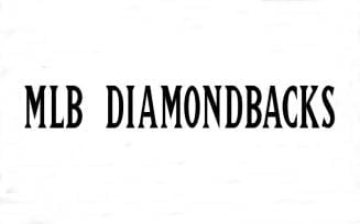 MLB Diamondbacks Font Family Free Download