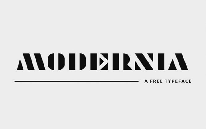 Modernia Font Family Free Download