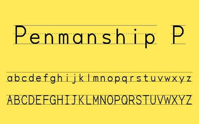 Penmanship Print Font Family Free Download