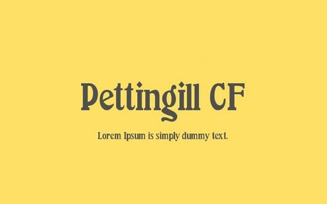 Pettingill CF Font Family Free Download