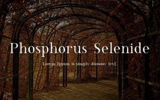 Phosphorus Selenide Font Family Free Download