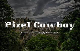 Pixel cowboy font family Free Download