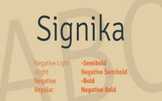 Signika Font Family Free Download