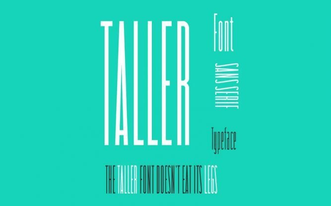 Taller Font Family Free Download