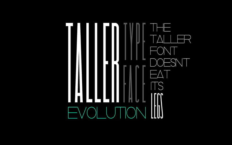Taller Font Free Download