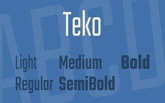 Teko Font Family Free Download