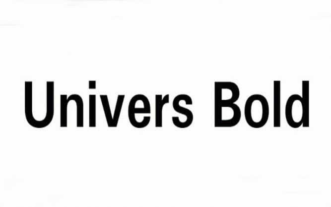 Univers Black Font Family Free Download