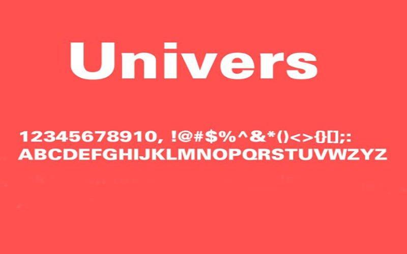Univers Black Font Free Download