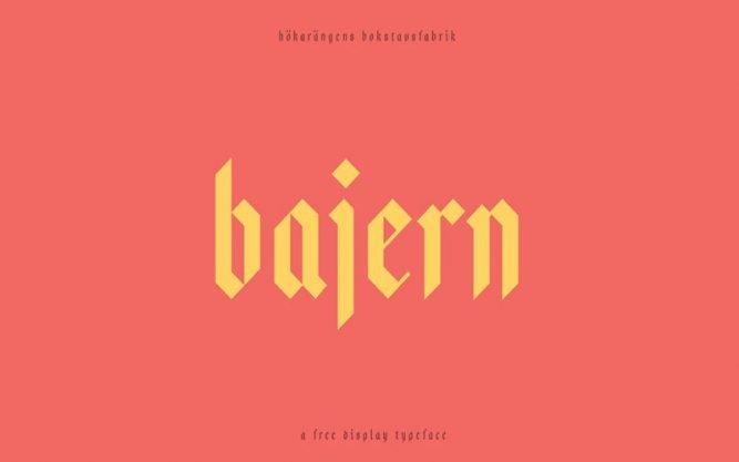Bajern Font Family Free Download