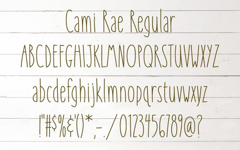 Cami Rae limited Font Free Download