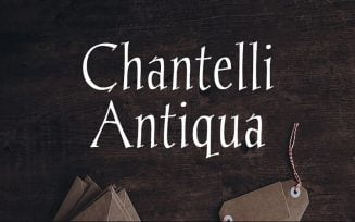 Chantelli Antiqua Font Family Free Download