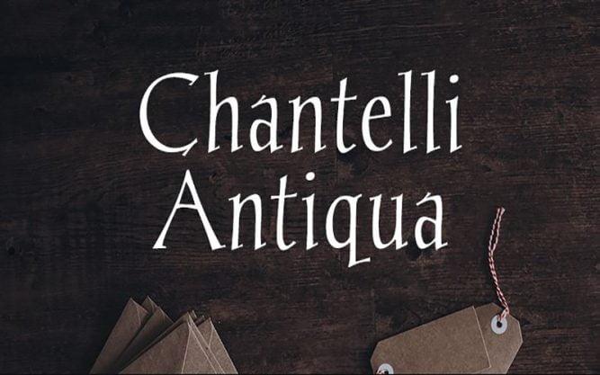 Chantelli Antiqua Font Family Free Download