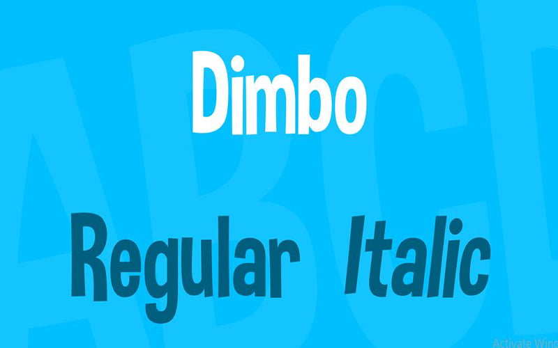 Dimbo-Font-Family-Download