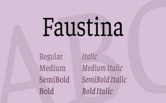 Faustina Font Family Free Download