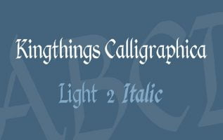 Kingthings Calligraphica Font Family Free Download