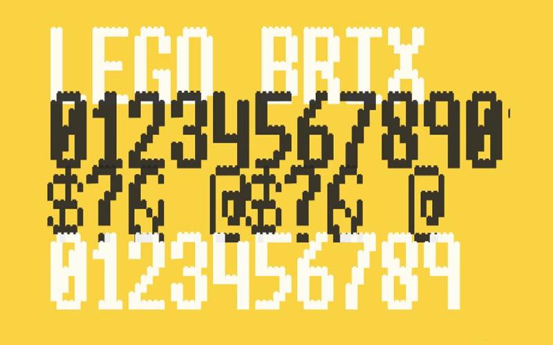 Lego Brix Font Free Download