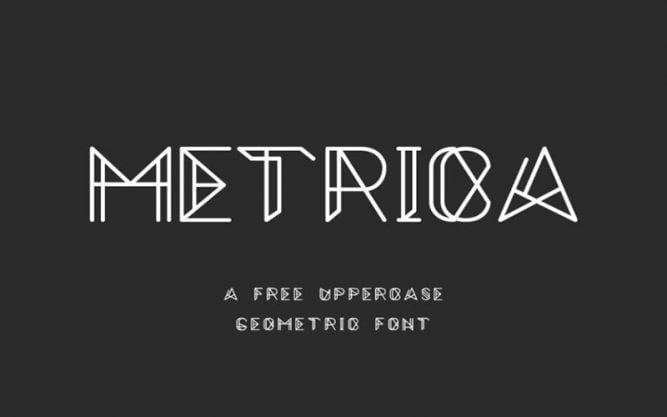 Metrica Font Family Free Download