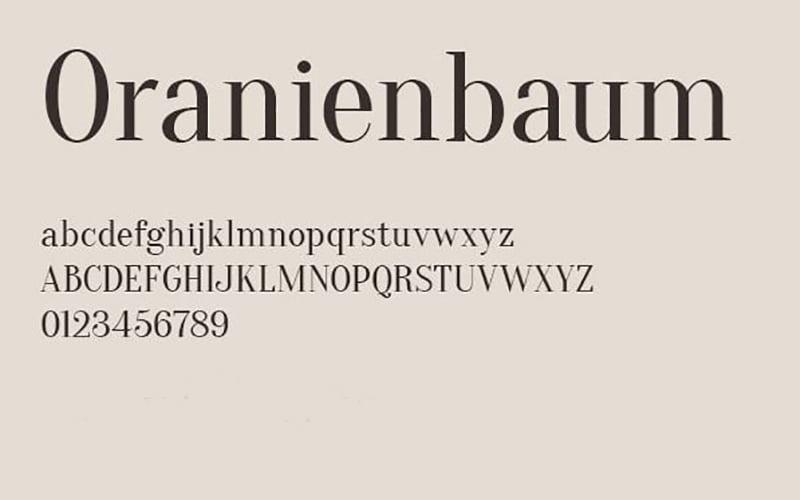 Oranienbaum Font Free Download