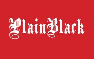 PlainBlack Font Family Free Download